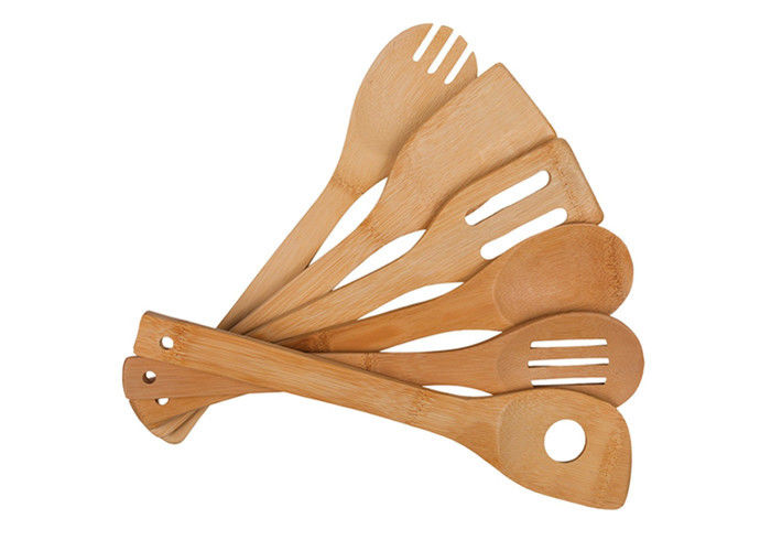 Organic Bamboo Utensil Set Wooden Cooking Spoons and Spatulas Antimicrobial Kitchen Tools Bamboo Kitchen Supplies